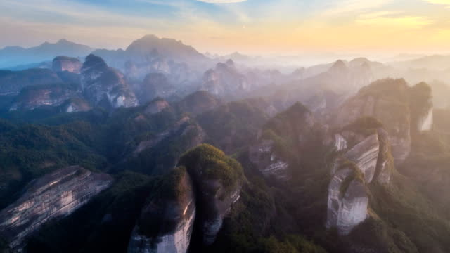 aerial view of guilin - time lapse - horizon over land stock videos & royalty-free footage