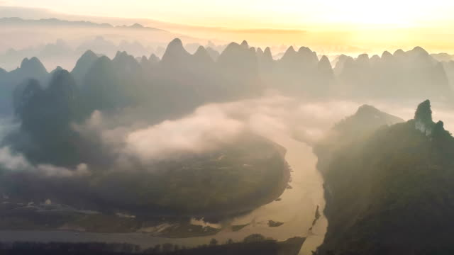aerial view of guilin - covering stock videos & royalty-free footage