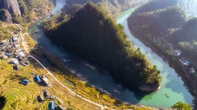aerial view of guilin - remote location video stock e b–roll