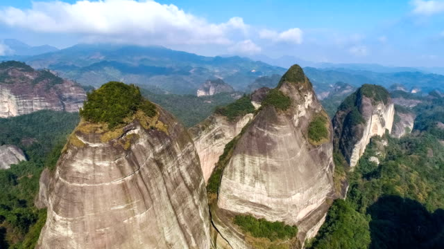 aerial view of guilin - landscape scenery stock videos & royalty-free footage