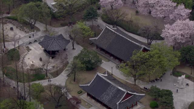 aerial view of gyeongsang gamyeong park at daegu - daegu stock videos and b-roll footage