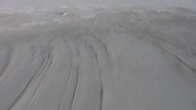 aerial view of gypsum sand dunes in white sands national park, new mexico, united states of america - new mexico stock videos & royalty-free footage