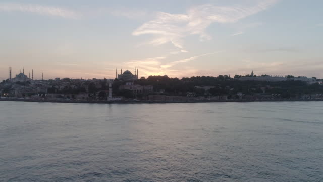 aerial view of hagia sophia mosque and old town. istanbul. turkey. - topkapi palace stock videos and b-roll footage