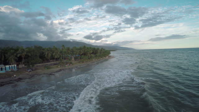 aerial view of haitian coastline - haiti stock videos & royalty-free footage