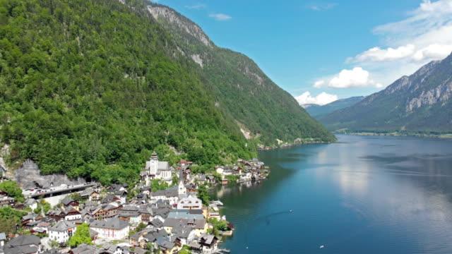 ハルシュタットの航空写真 - アッパーオーストリア点の映像素材/bロール