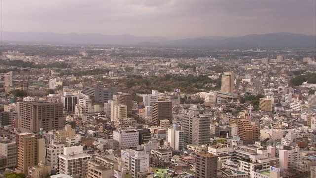 aerial view of hamamatsu city, japan. - hamamatsu stock videos and b-roll footage