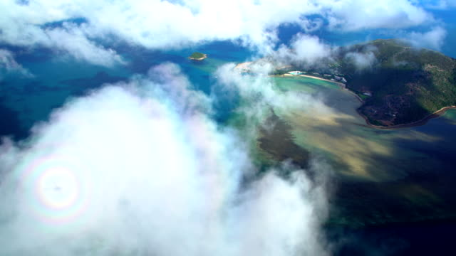 Aerial view of Hamilton Island Whitsundays Queensland Australia