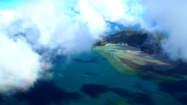 aerial view of hamilton island whitsundays queensland australia - south pacific ocean stock videos & royalty-free footage