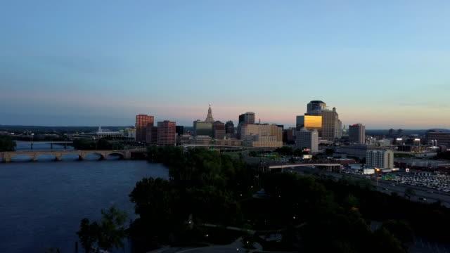 Aerial view of Hartford, CT skyline