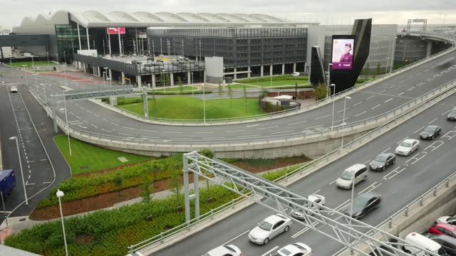 aerial view of heathrow airport. heathrow airport is a major international airport in london, england. - multiple exposure stock videos & royalty-free footage