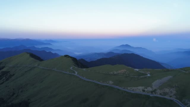 Aerial view of Hehuanshan at dawn, Taiwan