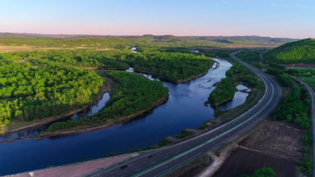 黒竜江の空中写真 - 湿地点の映像素材/bロール