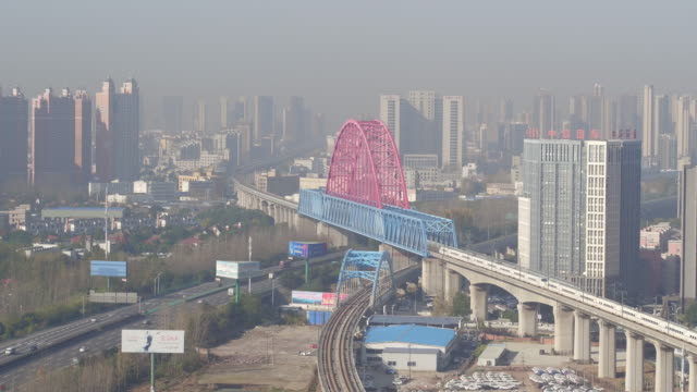 aerial view of high speed train in china - rail transportation stock videos and b-roll footage