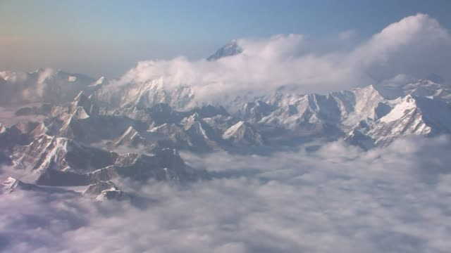 aerial view of himalaya mountains. - bhutan stock videos & royalty-free footage