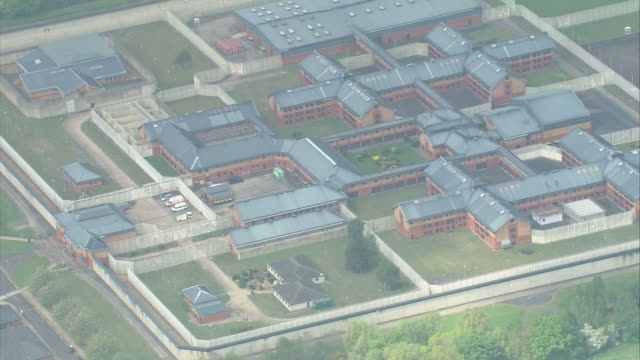 aerial view of hmp whitemoor - prison stock videos & royalty-free footage