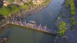 Aerial view of Hoi An old town or Hoian ancient town