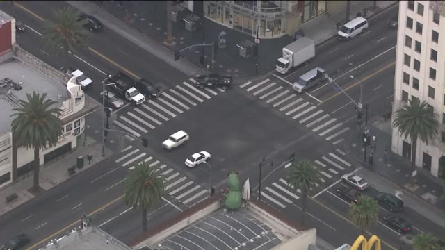 KTLA Aerial View of Hollywood and Highland Intersection on August 19 2015
