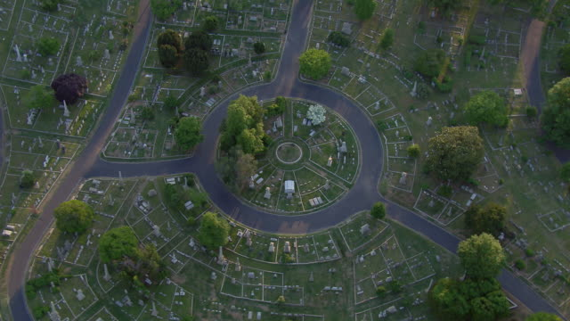 aerial view of hollywood cemetery, richmond, virginia, united states of america. - gravestone stock videos & royalty-free footage