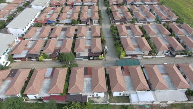 Aerial view of home village