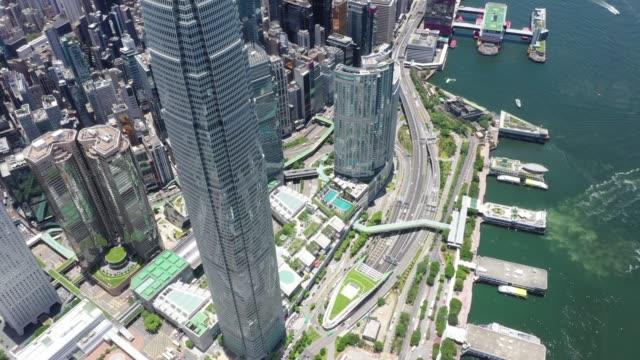 vidéos et rushes de vue aérienne de la ville de hong kong - central district de hong kong