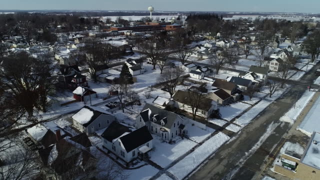 aerial view of houses for sale in geneseo illinois us on monday jan 20 2020 - 2020 business stock videos and b-roll footage