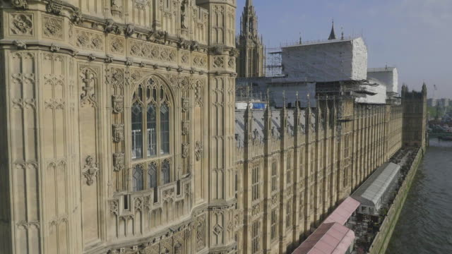 aerial view of houses of parliament - top hat stock videos & royalty-free footage