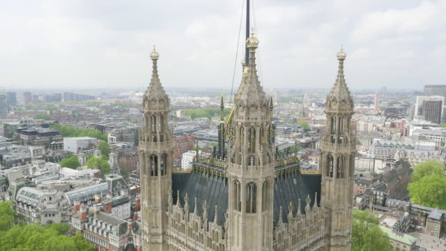 aerial view of houses of parliament - identity stock videos and b-roll footage