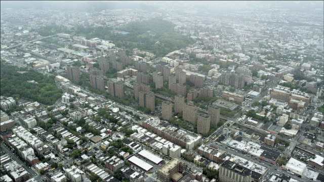 aerial view of housing authority projects between clay and washington avenues, the bronx, new york - bronx new york stock videos and b-roll footage