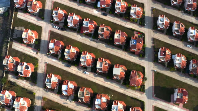 aerial view of housing estates - symmetry stock videos & royalty-free footage