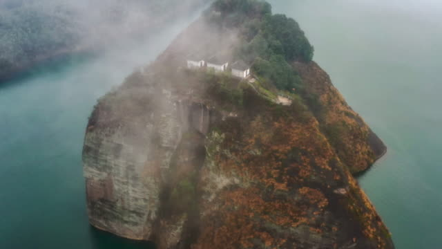 aerial view of hunan - old ruin stock videos & royalty-free footage