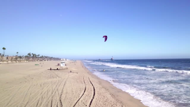 aerial view of huntington beach in los angeles california - huntington beach california stock videos and b-roll footage