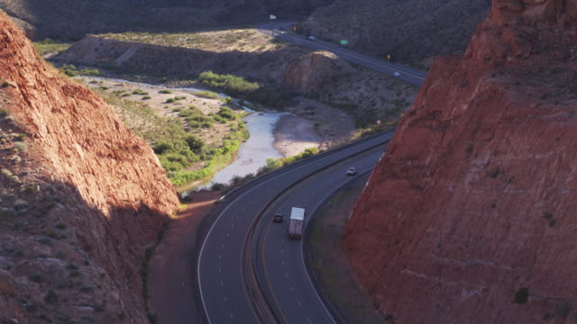 Aerial View of I-5 in Virgin River Gorge, Arizona