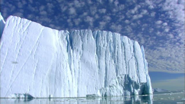 vídeos de stock e filmes b-roll de aerial view of iceberg at antarctica - antártida