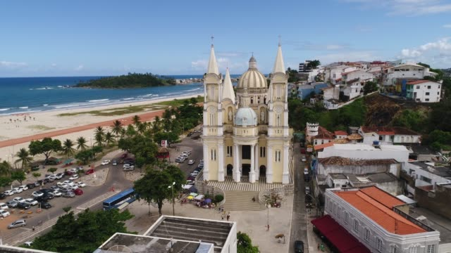 aerial view of ilheus in bahia, brazil - bahia state stock videos and b-roll footage