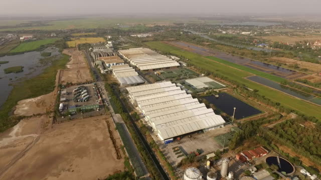 aerial view of Industry plant during in Thailand