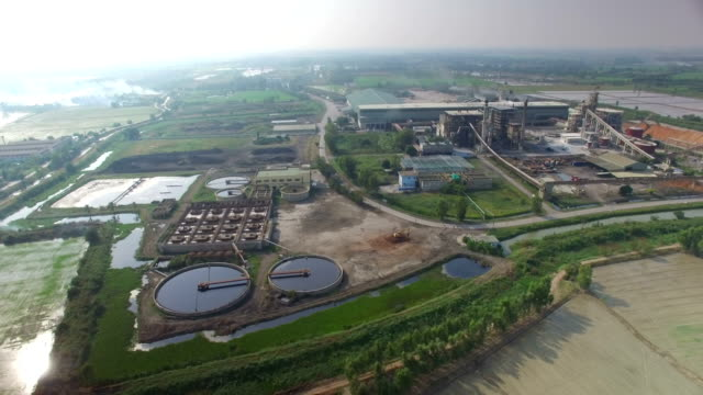 Aerial view of Industry plant in Thailand