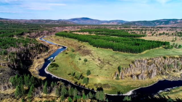 aerial view of inner mongolia - named wilderness area stock videos & royalty-free footage