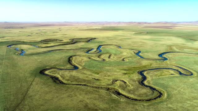 vídeos y material grabado en eventos de stock de vista aérea de mongolia interior - paisaje espectacular
