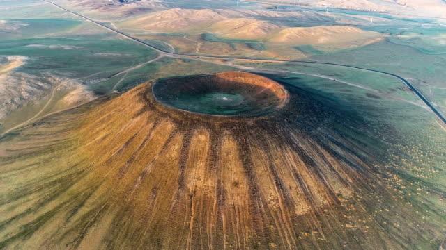 内モンゴルの航空写真 - 峡谷点の映像素材/bロール
