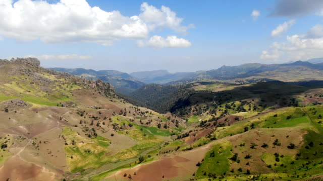 aerial view of intensive overgrazing and agricultural use of natural habitats/ bale mountains in ethiopian highlands - äthiopien stock-videos und b-roll-filmmaterial