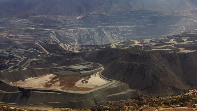 Aerial View Of Iron Mine In Chile