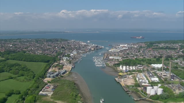 aerial view of isle of wight coast line during coronavirus epidemic on 4 may 2020 in isle of wight, united kingdom - contact tracing stock videos & royalty-free footage
