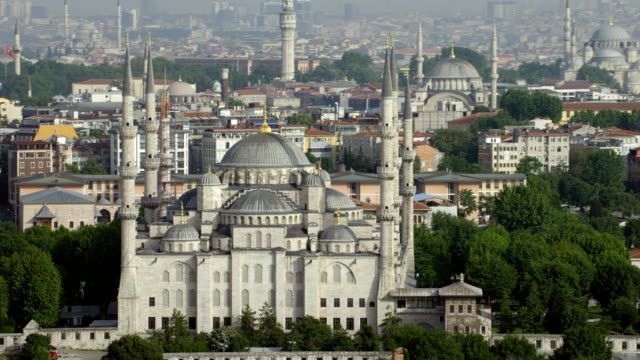 Aerial View Of Istanbul's Blue Mosque