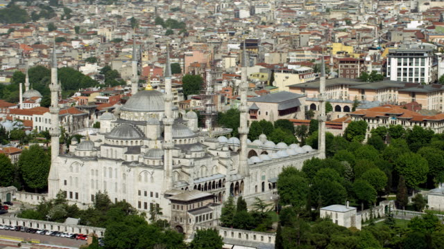 Aerial View Of Istanbul's Sultan Ahmed Mosque