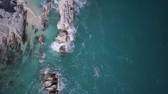 Aerial view of Italian Adriatic sea coastline