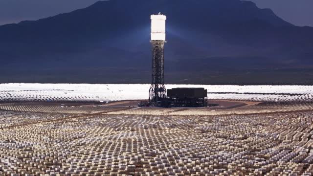 Aerial View of Ivanpah Solar Facility, California