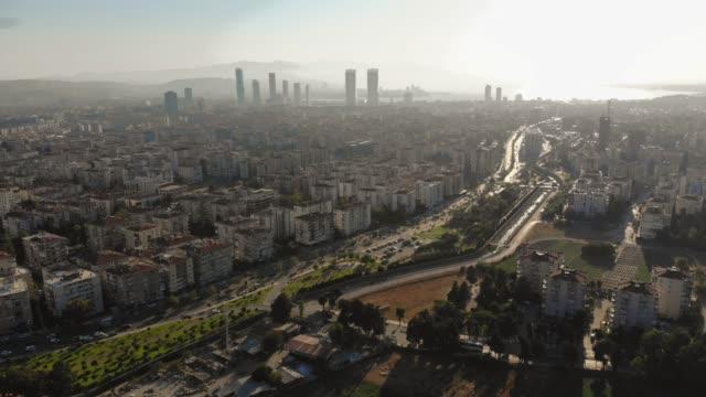 aerial view of izmir - izmir stock videos & royalty-free footage