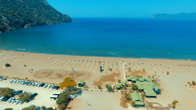 aerial view of iztuzu beach - turtle beach - iucn red list stock videos & royalty-free footage