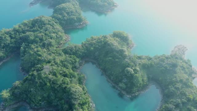 aerial view of japanese's islands on the sea - saftig bildbanksvideor och videomaterial från bakom kulisserna