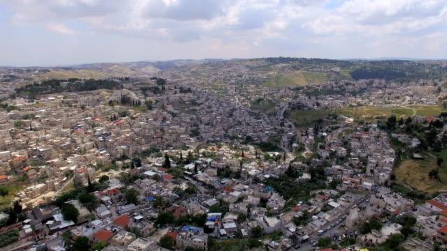 aerial view of jerusalem old city - jerusalem stock-videos und b-roll-filmmaterial